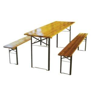 Drveni baštenski set - Sto + 2 klupe