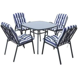 Baštenski set sto + 4 stolice sa jastucima Veneto