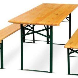 Baštenski drveni set sto + 2 klupe