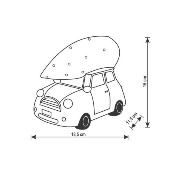 nacrt belog automobila