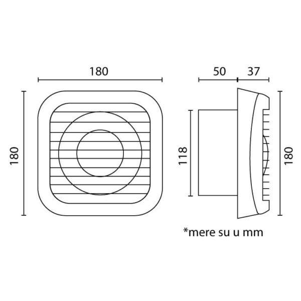 Izduvni ventilator MV-FI120-20W
